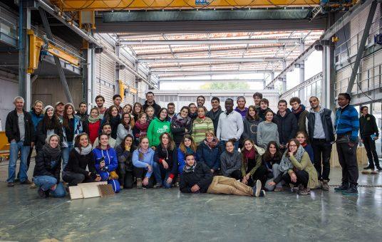 Les étudiants d'archi à l'origine du projet (© GA / ENSAG / ENSAL)