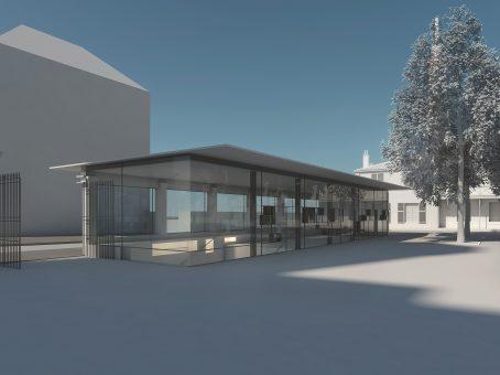 Le bâtiment d'accueil permettra de proposer une offre à la carte.