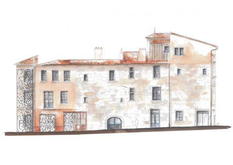 La façade de la rue de la Bombarde et les évolutions architecturales sur plusieurs siècles (Charlène Azé – RL&A).